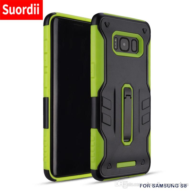 official photos 94bb2 121bf Case For Samsung Galaxy S9 S9 Plus Armor 2 in 1 Kickstand Mobile Phone  Cases For Samsung S9 Plus Protection Back Cover With Kickstand
