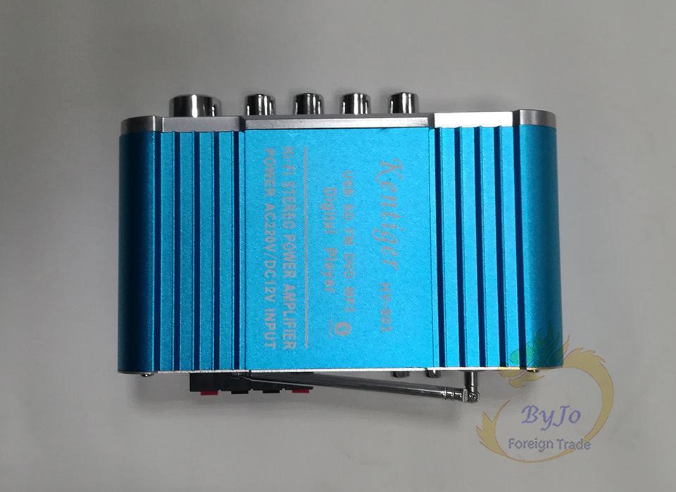HY803 Mini Amplificador Amplificador de Coche Amplificador Bluetooth 40W + 40W FM MIC MP3 para uso en el hogar del coche de la motocicleta Soporte AC 220V o DC 12V de entrada