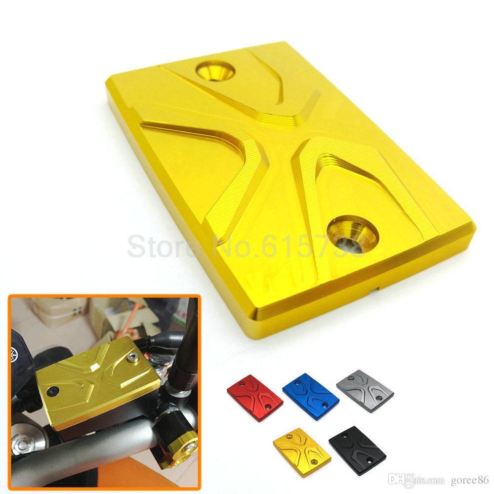 Gold Color Motorcycle accessories CNC Brake Fluid Reservoir Cap Cover For yamaha MT-09 MT-07 mt09 mt07 2014 2015 Z6 S2 06-10 07 08