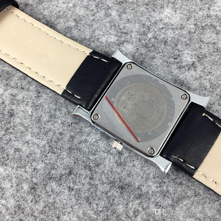 2017 Sıcak Satış Moda Lady Saatler Kadınlar İzle Lüks Kol Paslanmaz Çelik Siyah Deri Bilezik Marka Kadın Saat Ücretsiz Kargo