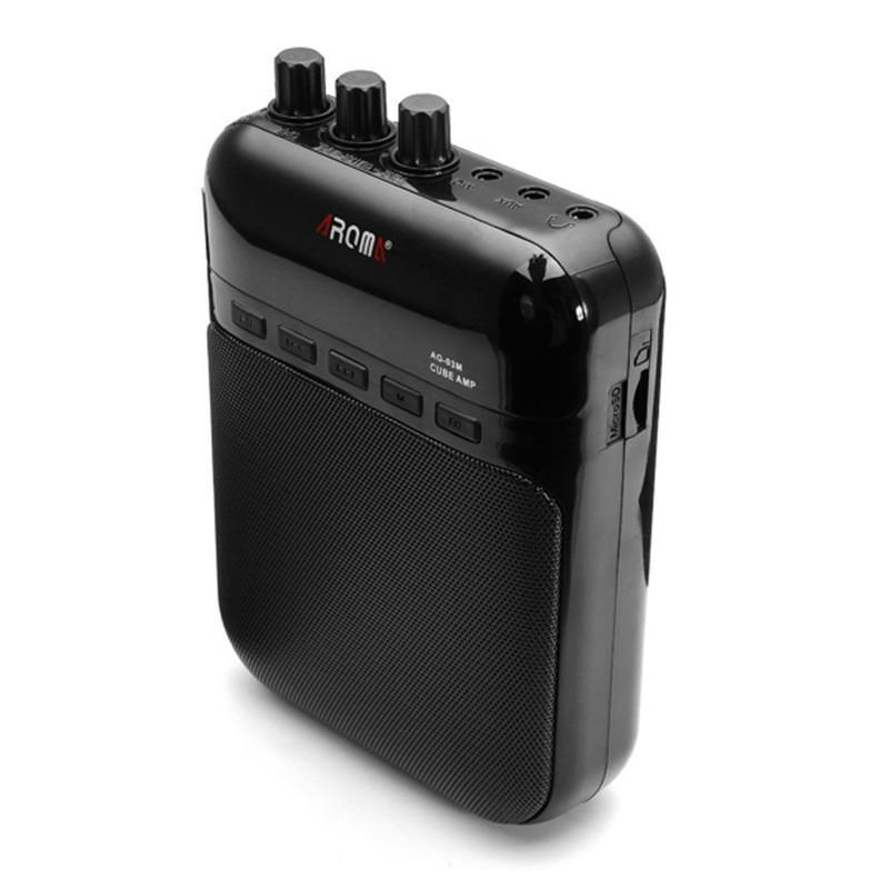 AG-03M 5W Guitar Amp Recorder Speaker TF Card Slot Compact Portable Multifunction Guitar Amplifier+USB Data Line