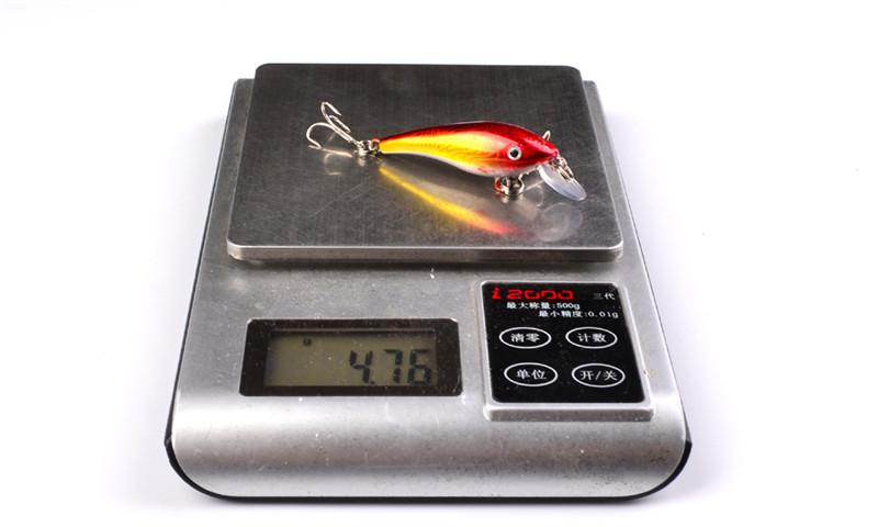 Dray Rattlin Artificial Laser Swimbait 5.7cm 4.5g Freshwater Crankbait fishing lure 3D Eyes fish bait