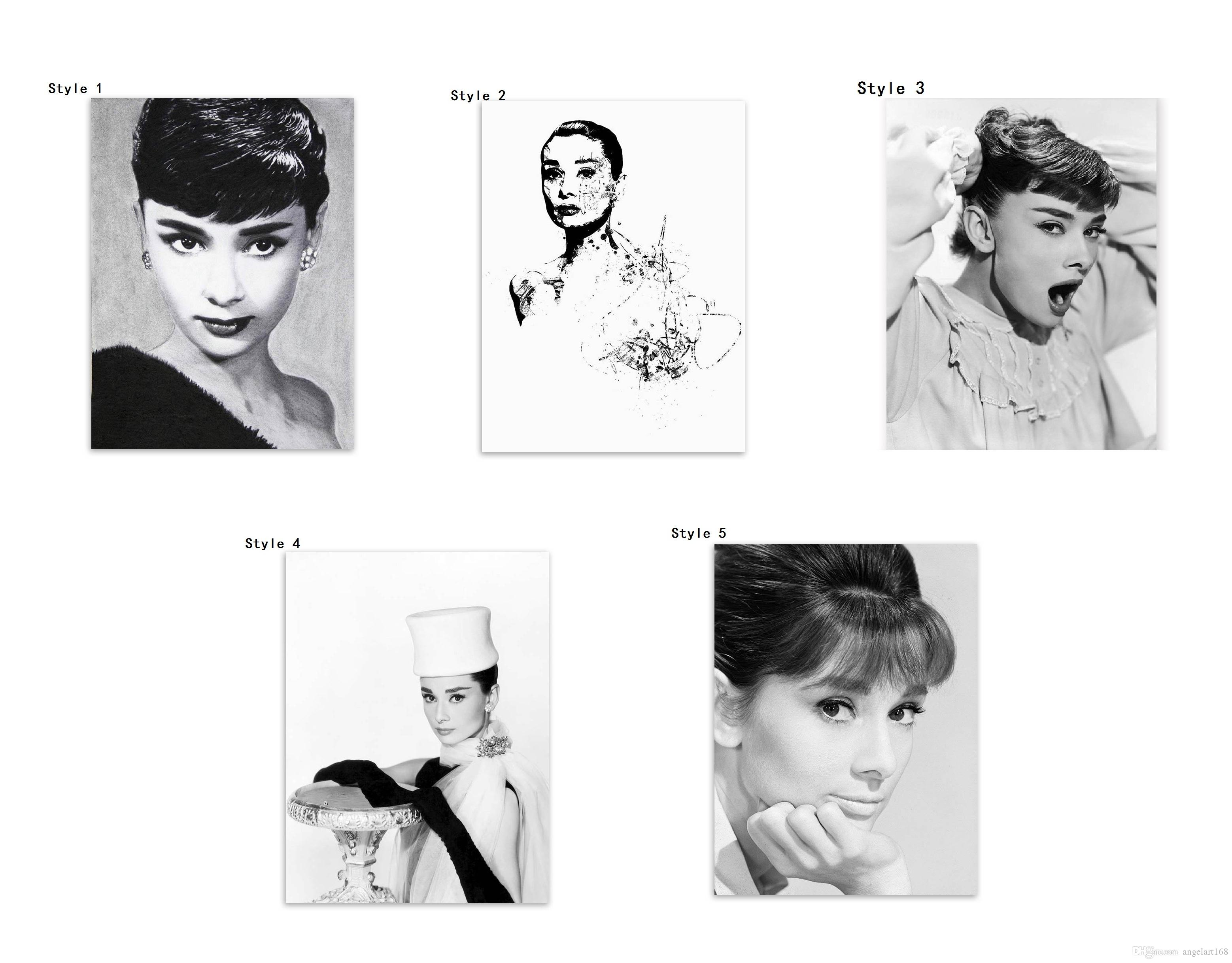 2018 Audrey Hepburn Giclee No Frame Wall Art Oil Painting On Canvas ...