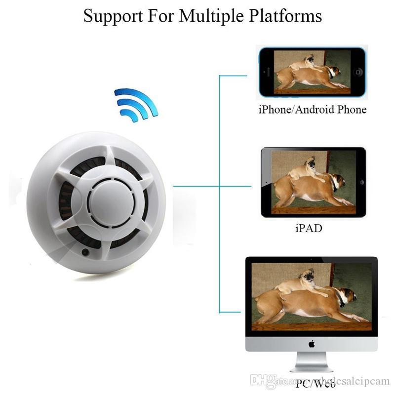 32GB HD 1080p Wifi Mini Caméra Détecteur de Fumée Sans Fil IP Caméra Enregistreur Vidéo Intérieur DV Caméscope Support IOS Android APP Affichage à Distance