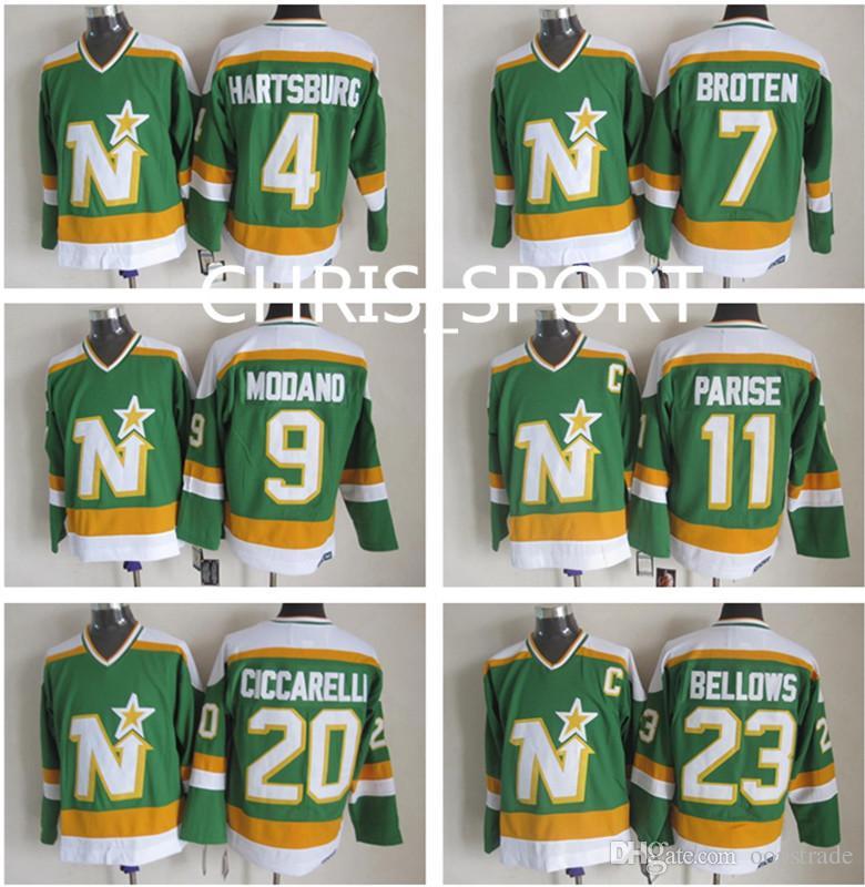 ... cheap 2018 minnesota north stars throwback ccm hockey jerseys 4 craig  hartsburg 7 neal broten 9 1c007a9fa