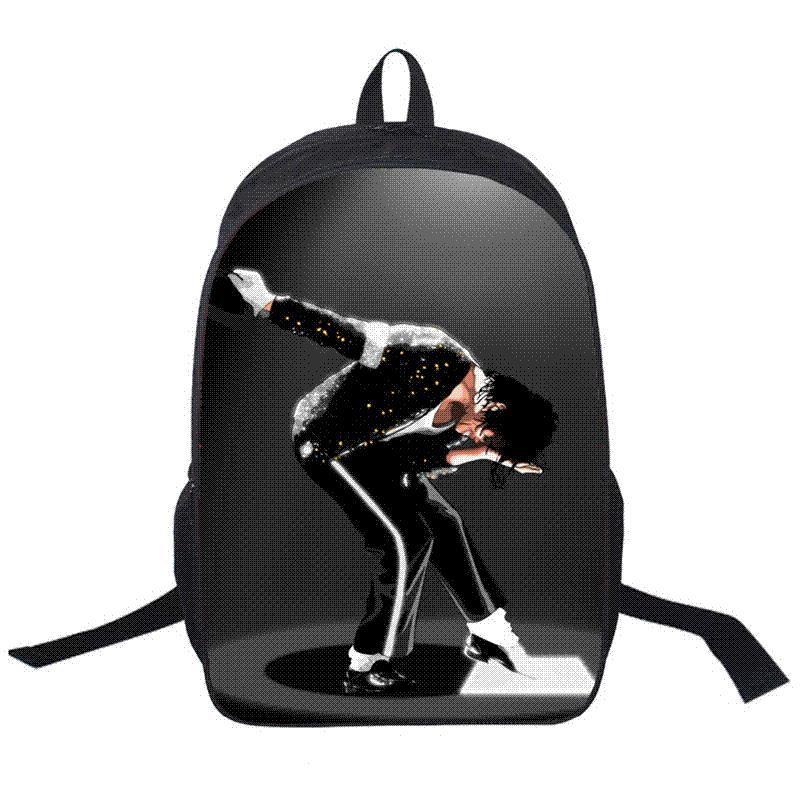 New 3d Printing Michael Jackson Backpacks School Bag Boys Cool