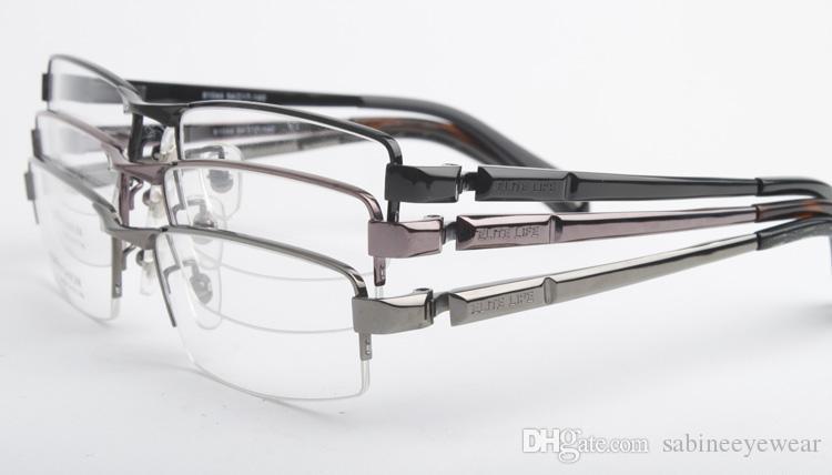 bc59b7d0aa0 Classic Male Pure Titanium Half-rim Eyeglass Frame Mens  Lightweight ...