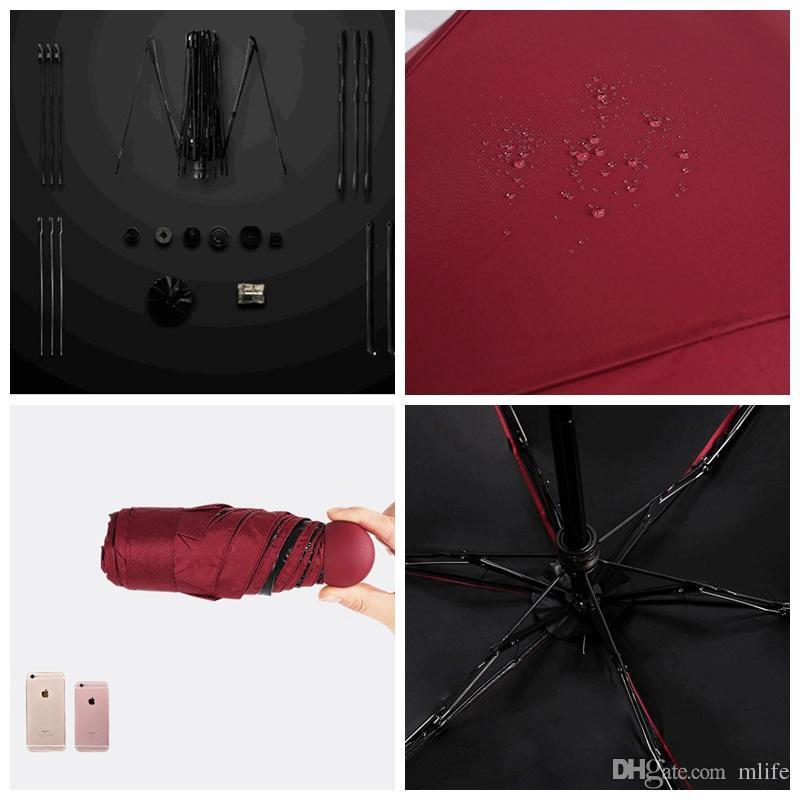 슈퍼 미니 휴대용 비오는 써니 캡슐 우산 파라과이 야외 여행 쇼핑에 편리 크리 에이 티브 작은 포켓 접이식 학교가