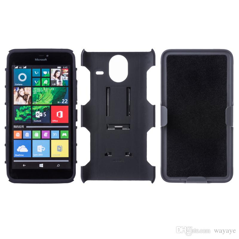 lowest price faaa6 458e0 Full Cover ForLumia 640 650 Armor Impact Case Cover Belt Clip Holster  Kickstand Combo Case Mobile Phone Cases Cell Phone Covers From Wayaye,  $6.18| ...