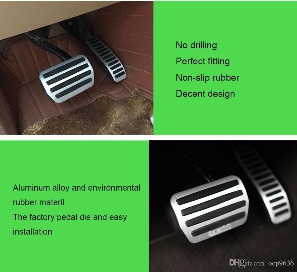 Для VW Touareg на 2007-2017 педаль крышка топливный газ тормоз подставка для ног корпус не бурения стайлинга автомобилей
