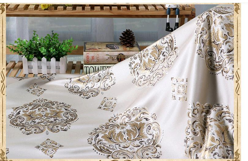 Europe type polyester high end spacing jacquard fabric pillow fabric sofa Curtain cloth chair cloth multi-color optional