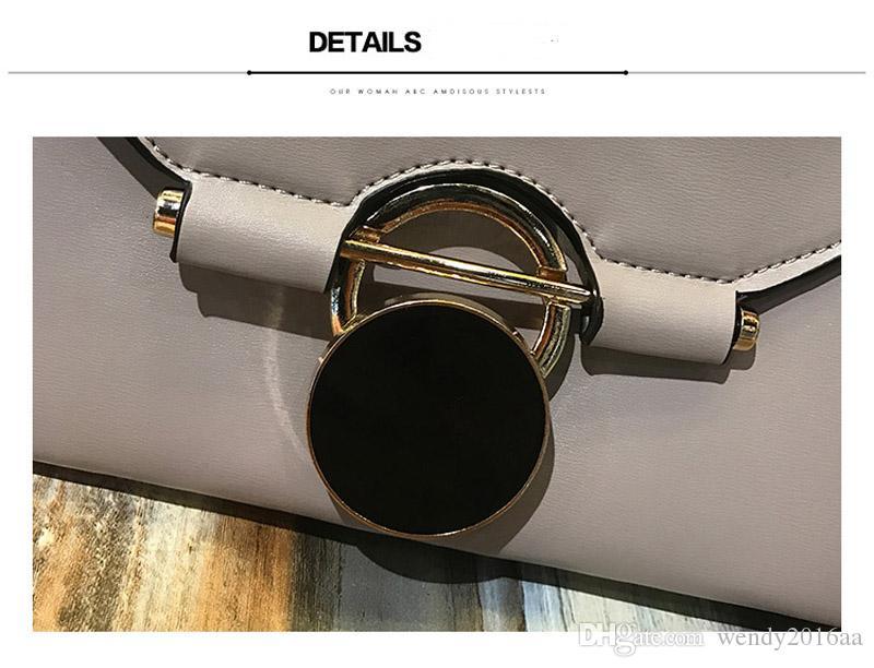2017 Nouveau Sac À Bandoulière Brève Femmes PU Enveloppe d'enveloppe avec chaîne chaîne moraillon Sac À Main 3 couleurs