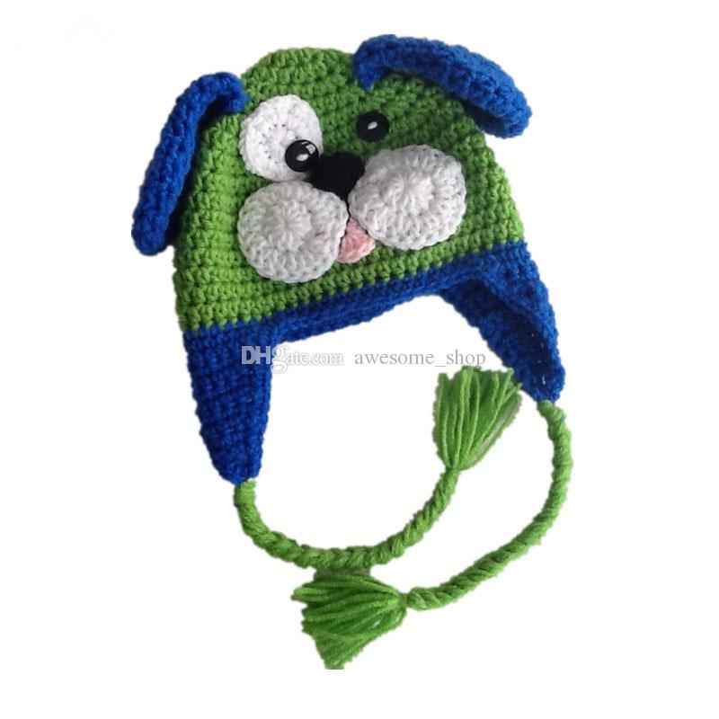 Compre Novidade Verde Azul Filhote De Cachorro Chapéu 2e3e04852c3