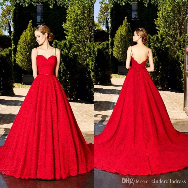Ruby Red Wedding Party Dresses
