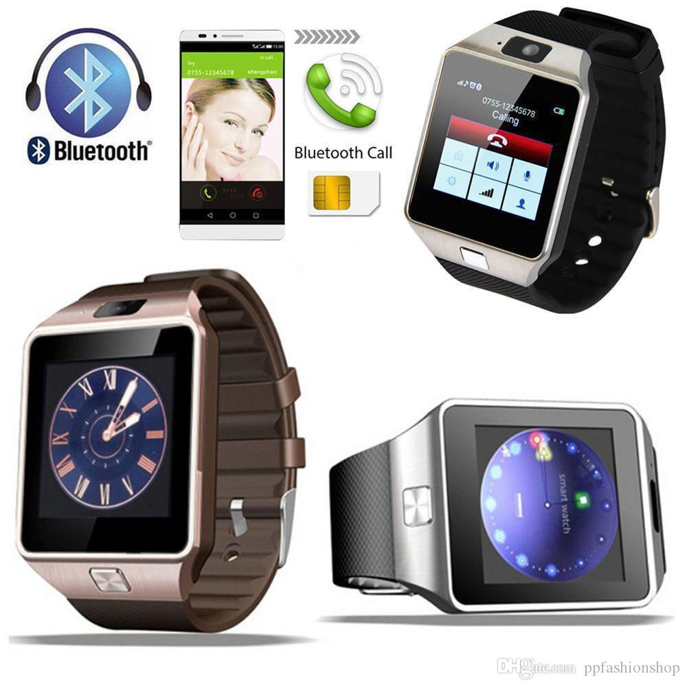 DZ09 스마트 시계 Wrisbrand 안드로이드 아이폰 SIM 지능형 휴대 전화 수면 전화 시계 패키지