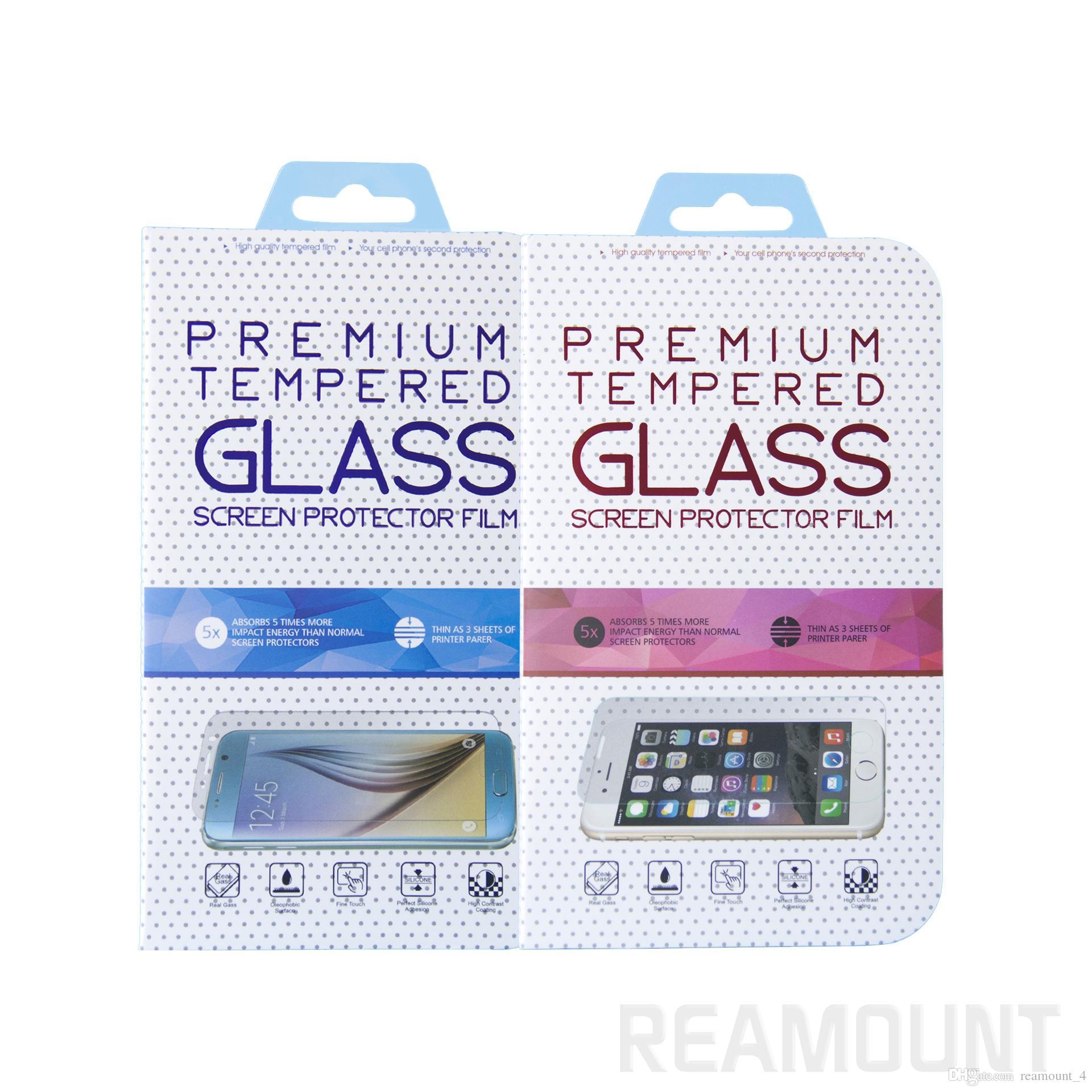 Großverkauf Fertigen besonders angefertigten Papierverpackungskasten für Anti-Srached ausgeglichenes Glas für iPhone 8 Einzelverkaufsverpackung von Samsung note8 an