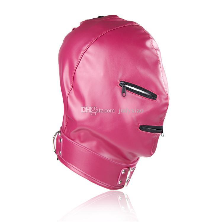 セックスゲームジッパークローズドスレーブボンデージヘッドフードマスクBDSMギアセックスおもちゃ製品のための恋人のための製品