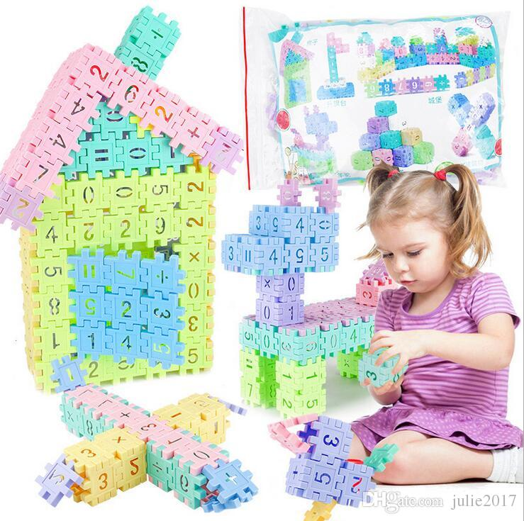 Diy Assembling Educational Number Building Block Pincha Building Blocks Toys Geometry Shape Cognition Number Building Block