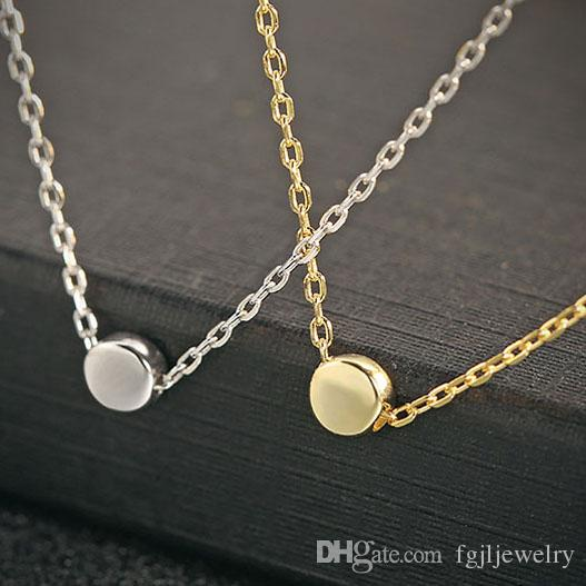 bf1d412ce9018 Latest silver jewelry for Girls Online Shop China gold plated 925 Sterling  Silver Pendant Necklace female small exquisite round pea necklace