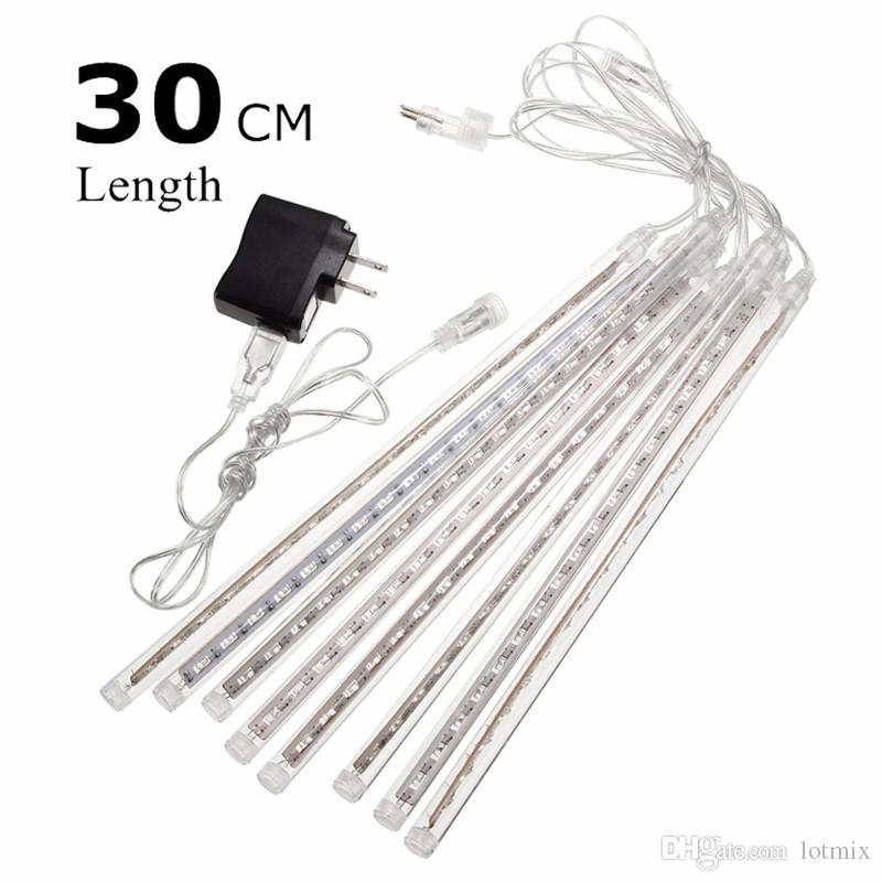 8 Tubes 30cm 50cm USB LED String Light Meteor Shower Rain Christmas Wedding Party Tree Led Fairy Light Waterproof IP65 110-240V