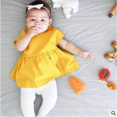 Yellow dresses for baby girl