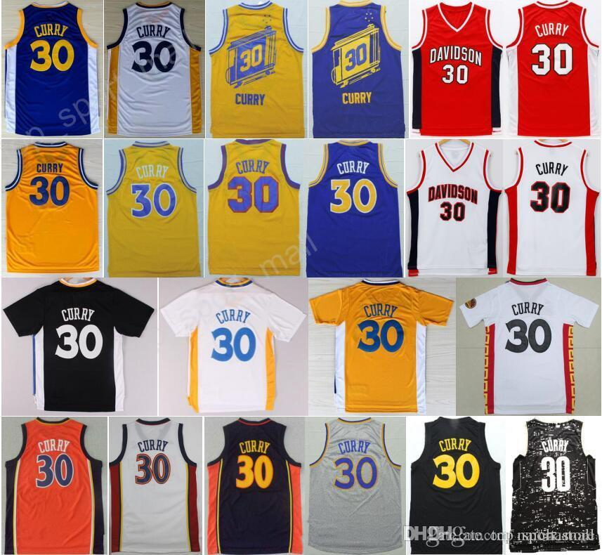15c5eac0 ... 2017 Cheap 30 Stephen Curry Basketball Jerseys Men Davidson Wildcats  College Stephen Curry Jersey Throwback Stitched ...