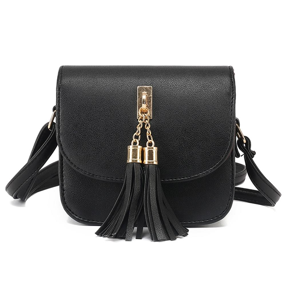 2017 Fashion Small Chains Bag Women Candy Color Tassel Messenger ...