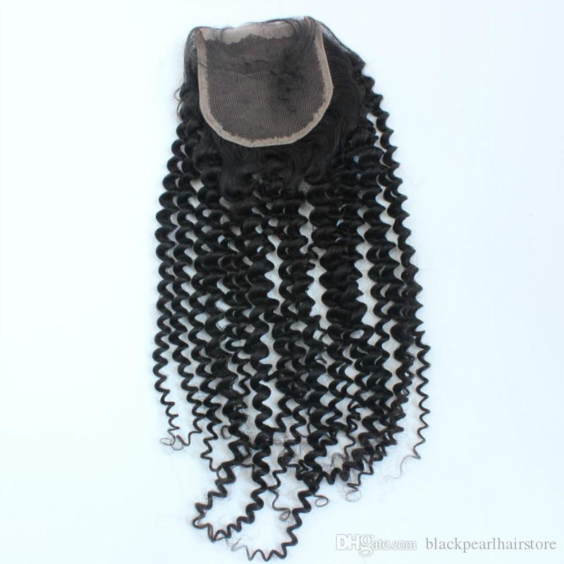 Mongilian Kinky Curly Lace Closure 3.5x4 Fast Shipping Free Part Wholesale Unprocessed Mongolian Curly Lace Closure