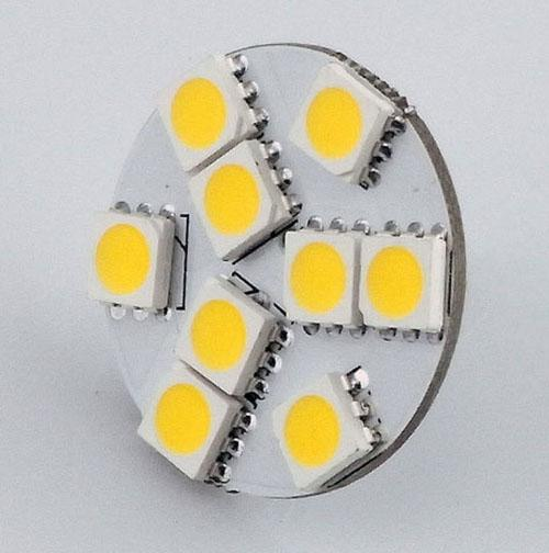 LED-stylingverlichting G4 ronde lamp voor boot / automotive 9 LED's wit Warm Wit 5050 SMD 9 LED Marine Camper Car Bulb Lamp 12V