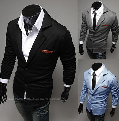 b7024b4738508 2019 Wholesale Hot Sale 2016 New Design Mens Brand Blazer Jacket Coats  Casual Slim Fit Stylish Blazers For Men Male