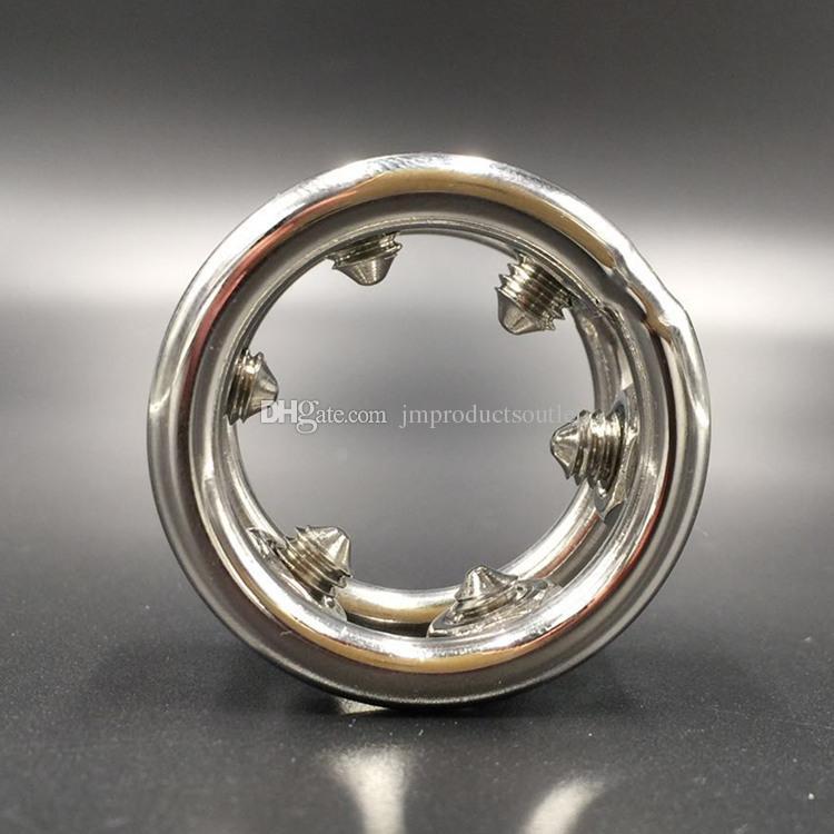 28mm / 30mm / 32mm aço Inoxidável anel peniano anéis de metal penis para homens cockring com picos de parafuso para bdsm