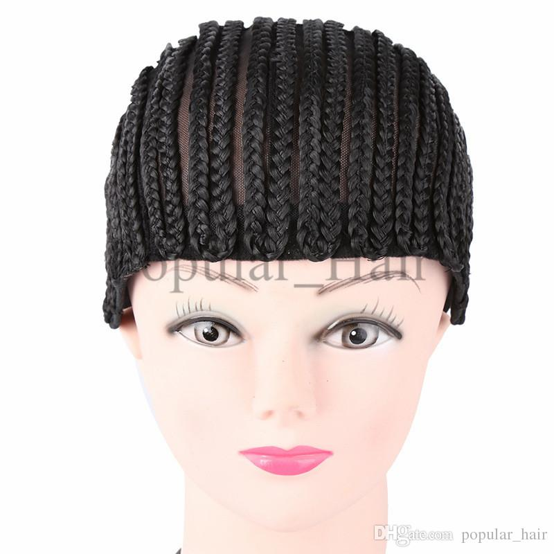 elastic braided wig cap for weave making wigs cornrow wig caps top quality weaving cap with adjustable strap net for glueless lace wig