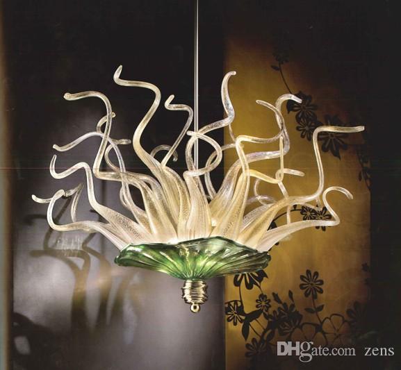Pas cher Ceiling Light Livraison gratuite Artisanat rustique Fer Grand Hôtel New lustre en verre soufflé à la main LR279