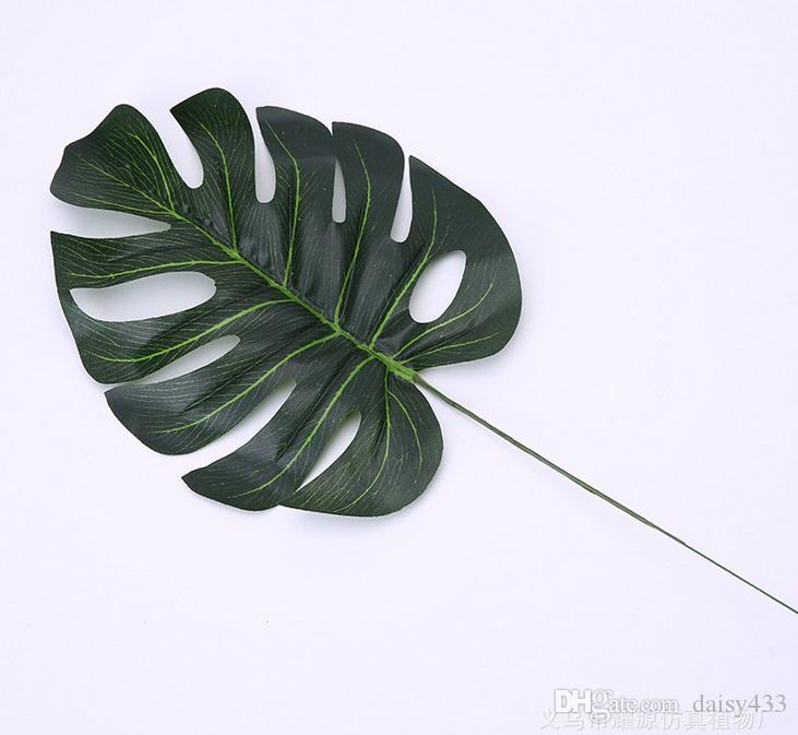 artificial diameter 40cm monstera swiss cheese plant leaves fake
