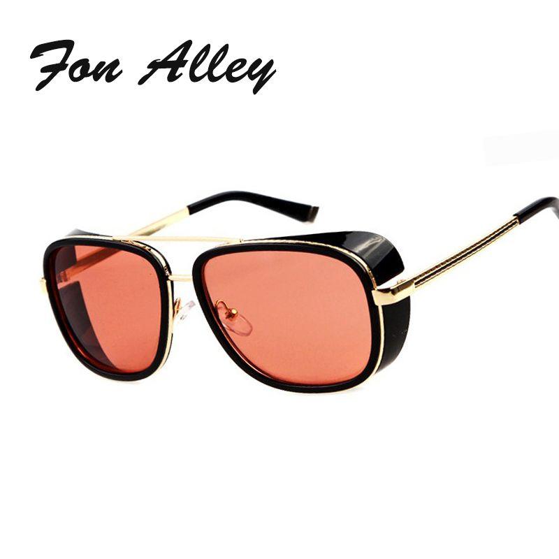 e495c9b23cc Wholesale FONALLEY Vintage Superstar Oversize Men Punk Tony Stark Sunglasses  Iron Man 3 Matsuda Retro Eyewear Steampunk Sun Glasses Ocul Prescription ...