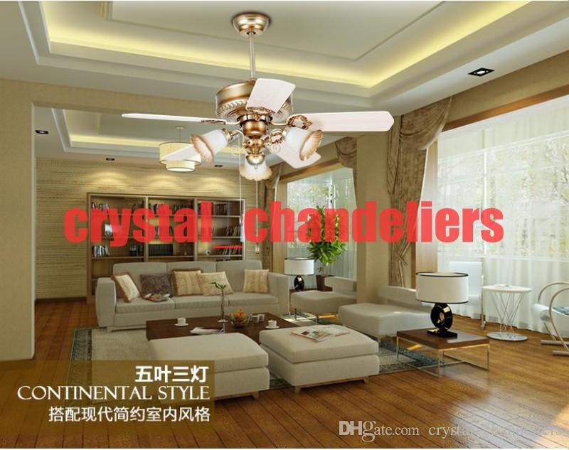 2017 Retro Fan Ceiling Light With Controller Minimalism Modern Bedroom Dining Room Living Lights Led Inventer 42inch From