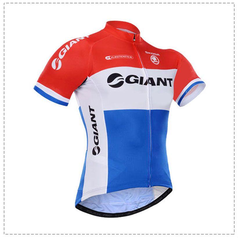 Maglietta da ciclista Giant bike 100% poliestere quick dry manica corta pro cycling jersey Camicie da ciclismo Ropa Ciclismo MTB
