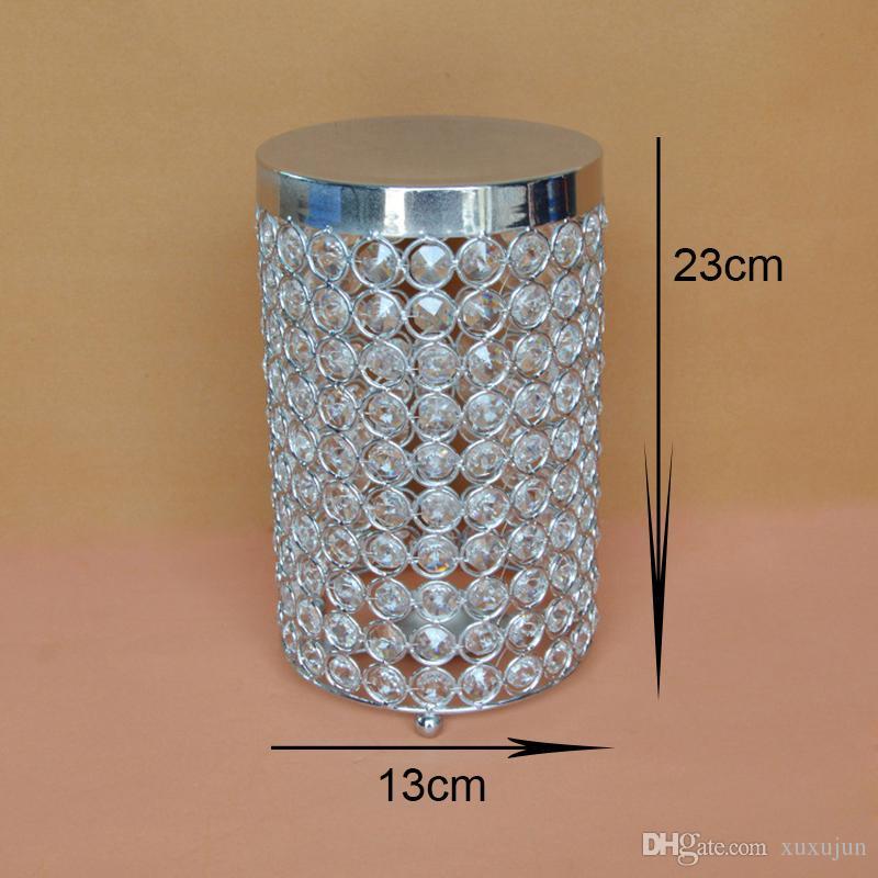 Portacandele in cristallo Portacandele in argento con portacandele centrotavola di decoro Decorazione portacandele H / 23