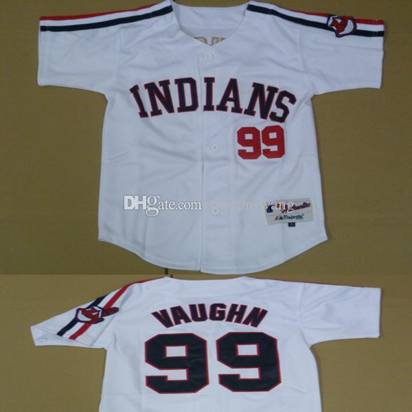 2017 youth cleveland indians 99 ricky vaughn white baseball jerseys kids boys size
