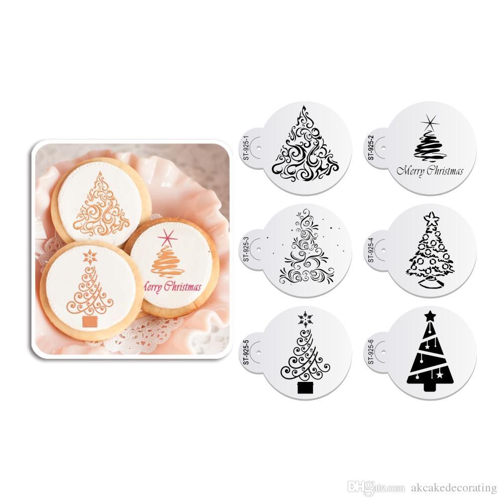 Großhandel Weihnachtsbaum Plätzchen Schablonen Fondant Cupcake ...