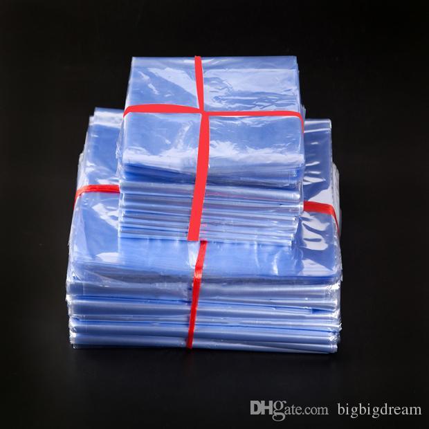 200 pçs / lote PVC Envoltório Do Psiquiatra Do Calor Filme Saco de Membrana Embalagem De Plástico Filme Transparente Calor Shrinkable Saco De Armazenamento Bolsa