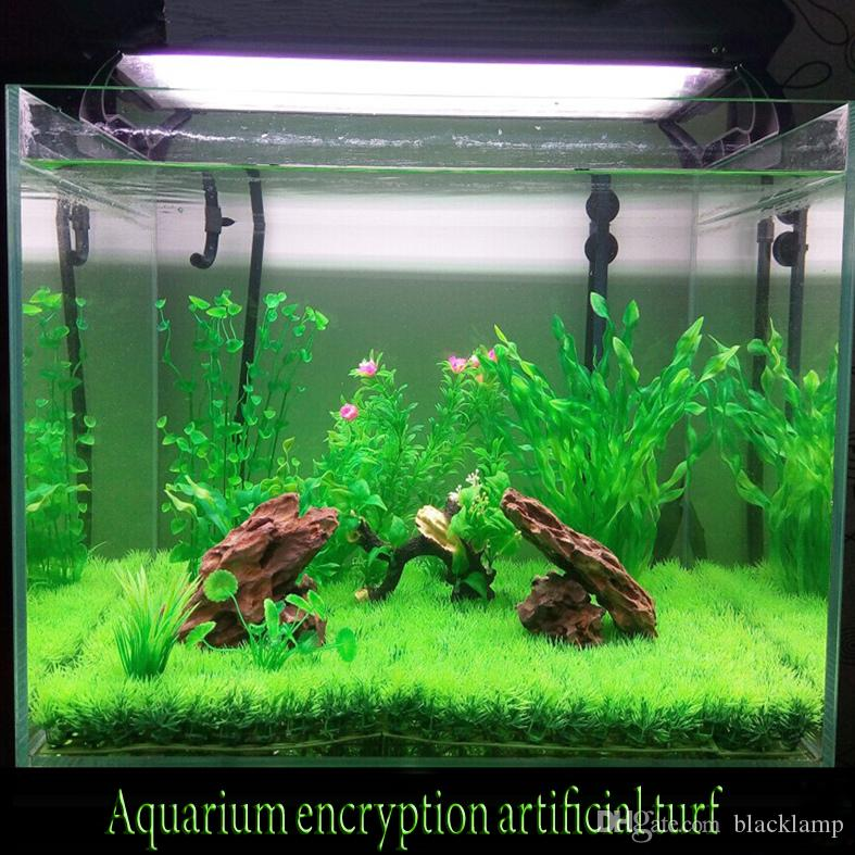 2018 artificial lawn turf grass plants for aquarium for Aquarium decoration diy