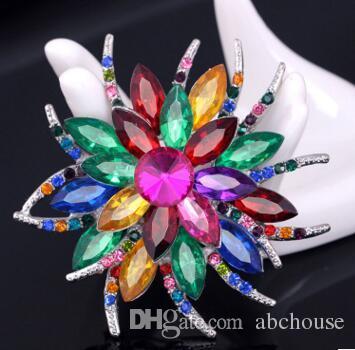 Wholesale Big or alliage d'argent cristal perle broches épingles À faire soi-même Mariage Bouquet Bijoux fantaisie Bijoux, montres