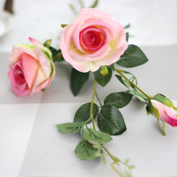 UBIZ artificial flowers cheap rose petals for wedding centerpieces decoration mariage silk roses household products Rose in the glass