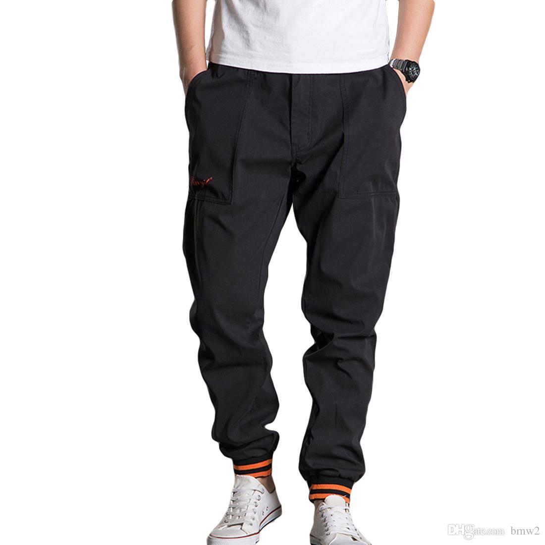 03cde0b9e80 2019 L 5XL Casual Cargo Pants Men Plus Size Baggy Harem Pants 2017 Fashion  Solid Kpop Trousers Mens Elastic Waist Jogger Sweatpants From Bmw2