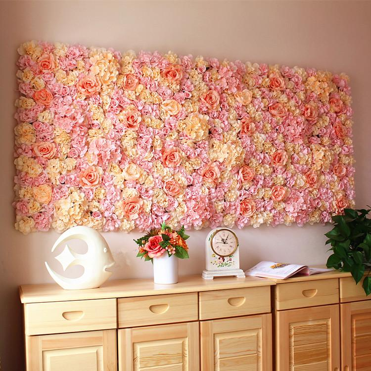 2019 40X60cm Artificial Silk Rose Flower Wall Decoration Decorative Silk  Hydrangea Home Party Wedding Backdrop Decoration Accessories From  Corportion, ...
