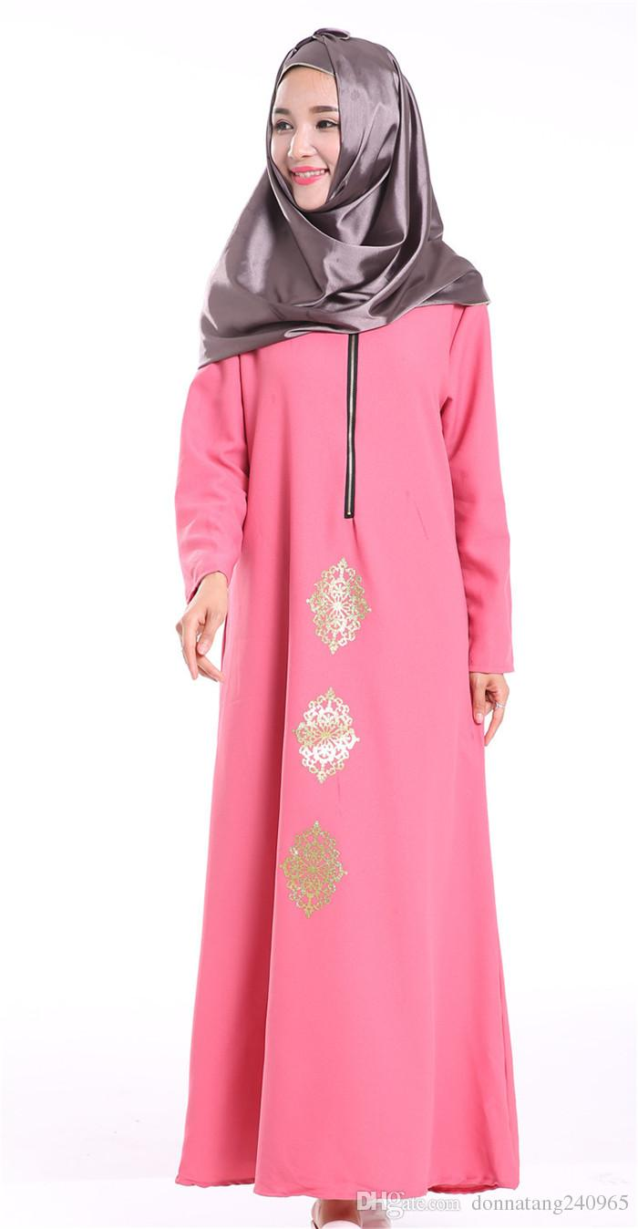 38fcfd87c764 Muslim Maxi Dress Abaya Caftan Clothing Women Islamic Dubai Dresses Turkey  Instant Hijab Arab Robes Turkish Worship