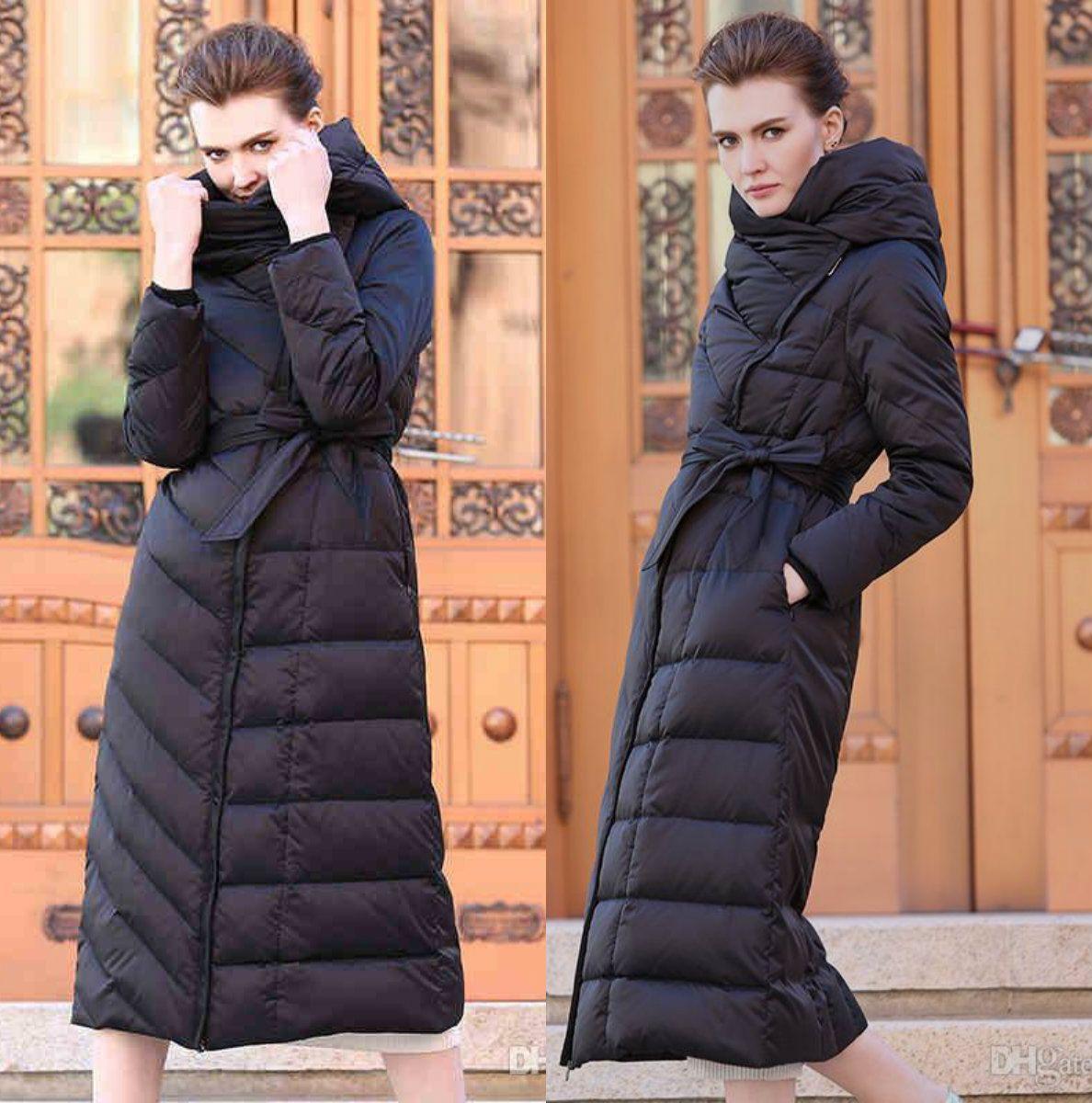 premium selection 85992 a0310 Cappotto lungo da donna nero aderente lungo Cappotto lungo invernale bianco  con piumino d anatra