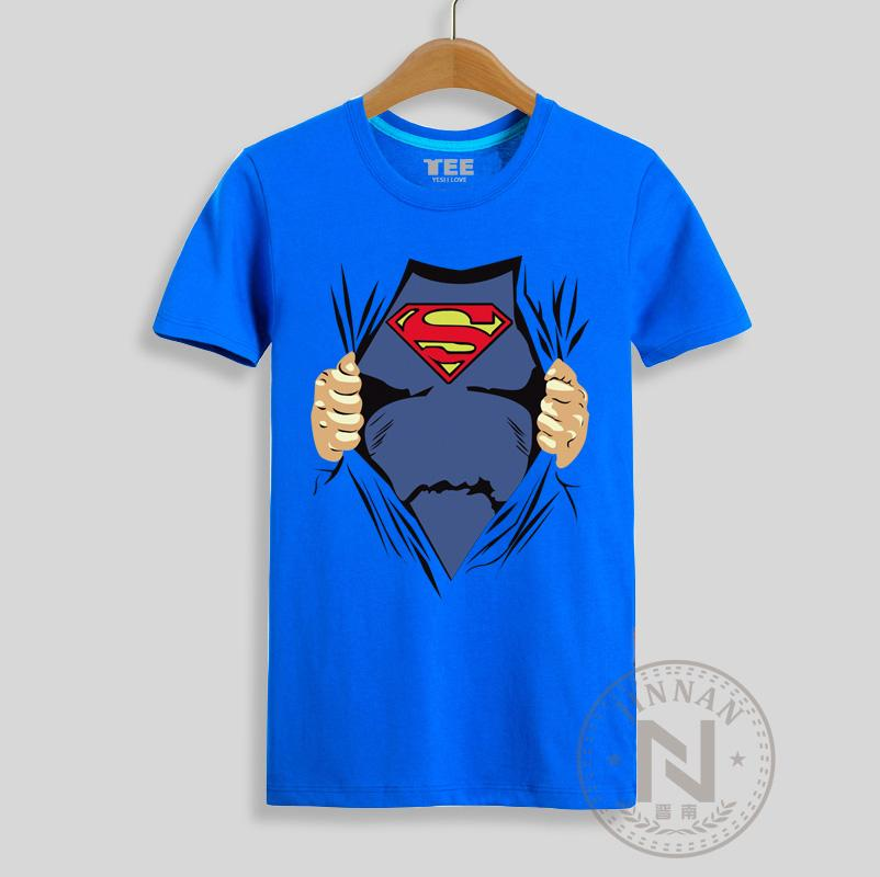 Superman Funny T Shirt Men Super Hero Cartoon T Shirt Super Man ...