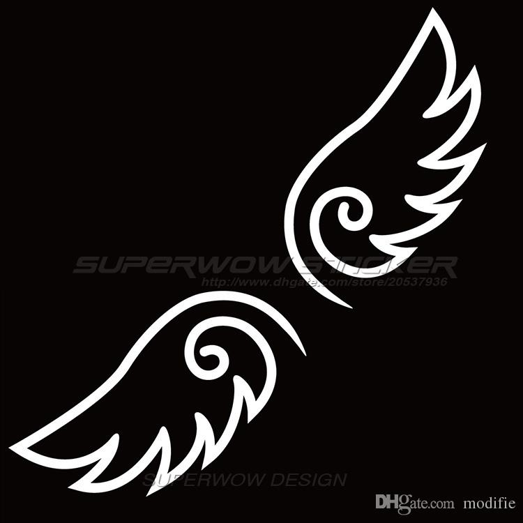 2018 Cute Car Stickers Funny Body Stickers Angel Wings Locomotive